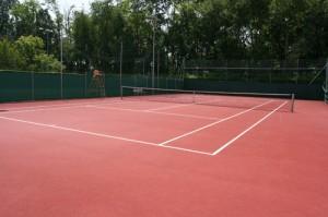 Campo da tennis scoperto in tartan